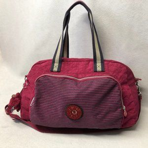 Kipling Burgundy Duffle Messenger Sample Bag